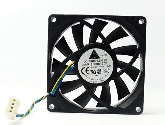 Wholesale: authentic Delta EFC0812DB 80*80*15 12V 0.50A 8CM PWM large air volume fan speed control
