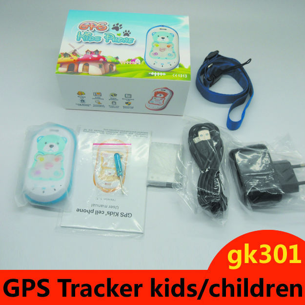 Tracking device for Children GPS Tracker Baby  with kids panic button SOS call gk301 Free shipping