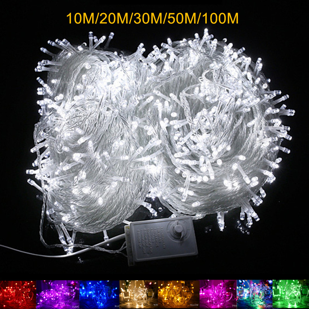 10m 20m 30m 50m 100m String Fairy Light In//Outdoor New Year Day Home Party Decor