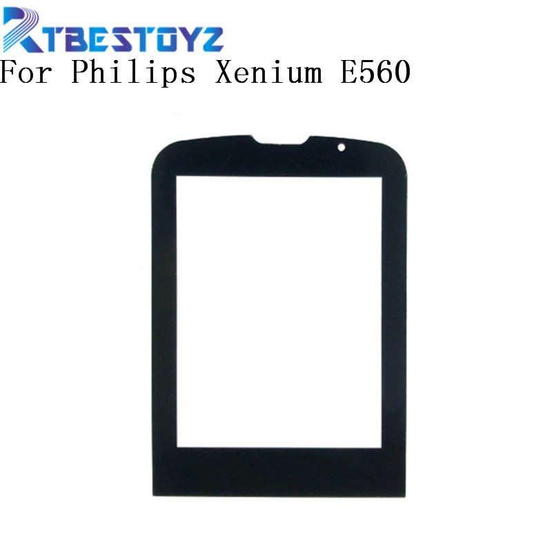 RTBESTOYZ Front Glass Lens For <font><b>Philips</b></font> <font><b>Xenium</b></font> <font><b>E560</b></font> E-560 Glass lens Not Touch Screen image