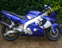 Hot Sales,For Yamaha Yzf600R Thundercat 97 07 Fairings YZF 600R 1997 2007 Yzf 600 R Blue White Aftermarket Motorbike Fairing Set