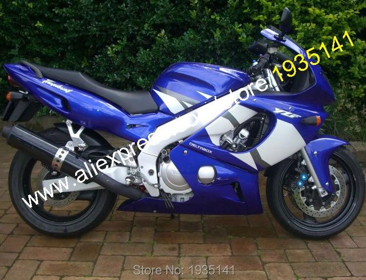 Offres spéciales, pour Yamaha Yzf600R Thundercat 97-07 carénages YZF-600R 1997-2007 Yzf 600 R bleu blanc pièces de rechange moto carénage ensemble