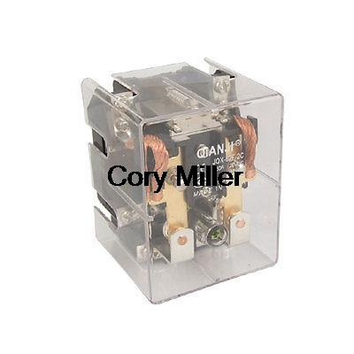 DC 24V Coil 80A 250V AC 28V DC Power Relay DPDT 2 NO 2 NC JQX-62F-2C jqx 62f 120a coil high power relay ac 220v