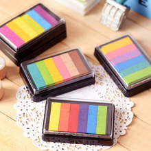 Rainbow Multicolor Ink Pad Oil Based for Stamp Scrapbook Photo Album DIY Craft 20 colors set diy scrapbooking colorful craft ink pad handmade scrapbook photo album children students stamps toys