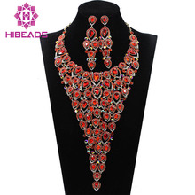 Luxury Bridal Jewelry Sets Wedding Necklace Earring For Brides Party Accessories Leaf Flowers Decoration Gift QW1105