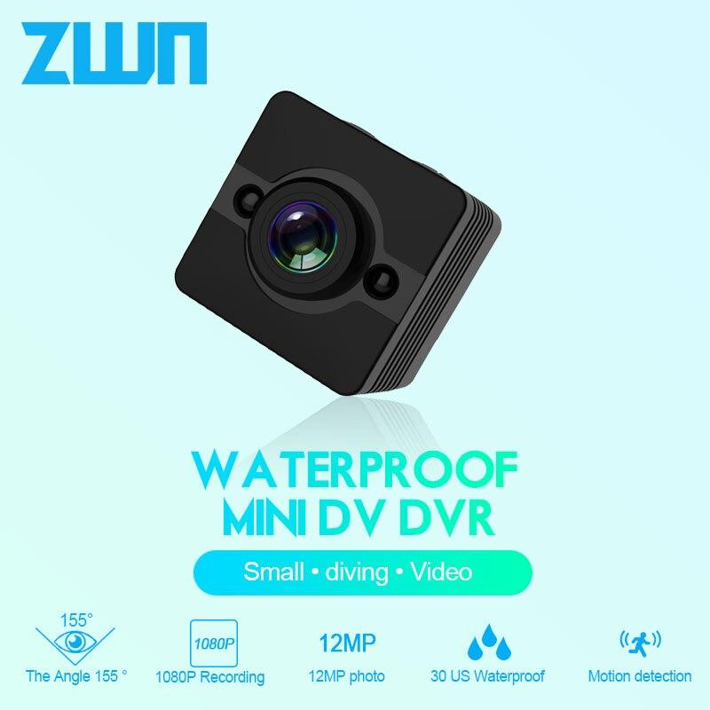 ZWN SQ12 HD Mini Camera Micro Camera With Night Vision 1080p Waterproof Body Secret Camera Wide-Angle Small Camera DVR mini cam