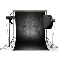 Freya 1Pcs Black 2.4x3.75M 8x12FT Abstract Dark Grey Concrete Wall Vinyl Studio Photo Background Backdrop Props