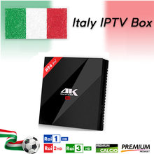 Italia iptv Francese iptv Box New H96 Pro + 3 GB/32 GB S912 Android 7.1 TV BOX HD Smart tv + 1 Anno europa server 2000 Canali(China)