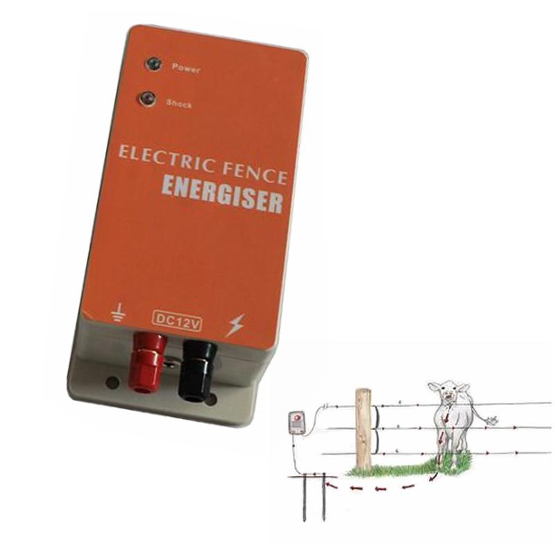 DC 12 v Solar Power Elektrische Zaun Energizer Elektrische Fechten Ladegerät Controller für Kleine Farm von Schafe Pferd Rinder Bär hund-in Zäune, Gitter und Tore aus Heim und Garten bei  Gruppe 1