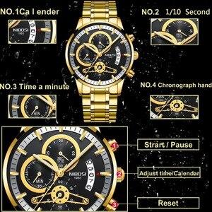 Image 2 - NIBOSI  Fashion Men Watch Men Automatic Mechanical Wrist Wristwatch Stainless Steel Male Clock