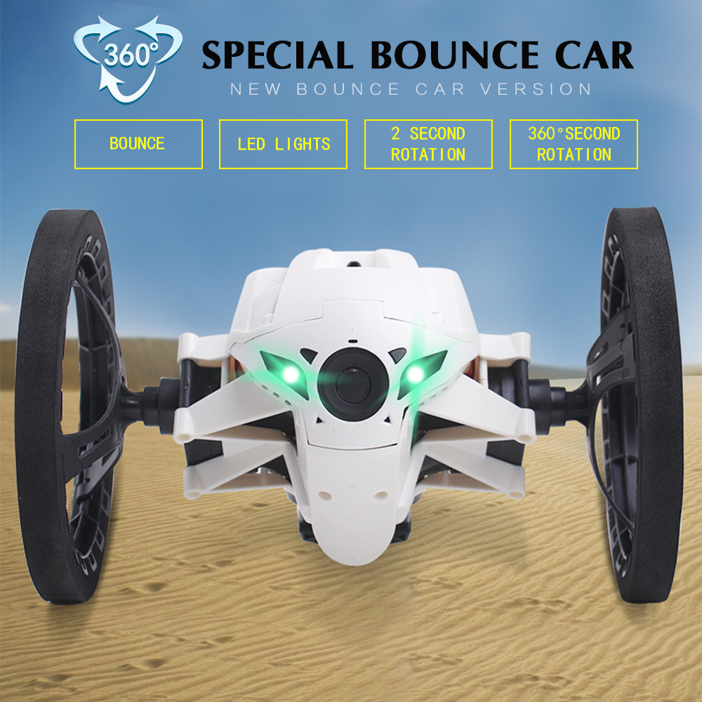 Strong jumping sumo connected toy mini rc car 2 4ghz special bounce car with flexible wheels