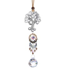 Ball-Prism Crystal Dream-Catcher Fengshui-Ornament Window Home with 30mm for Rear-View-Mirror