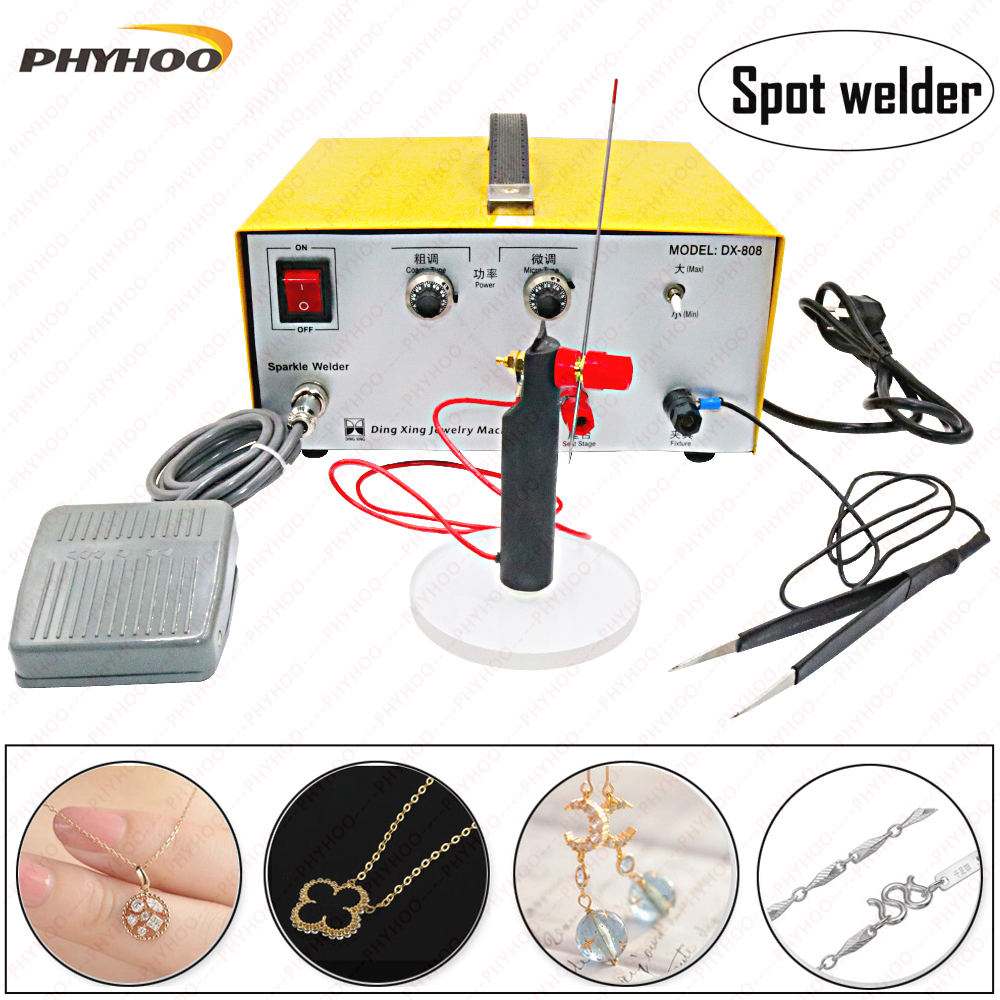 Hot Sale Professional 30a 110v Pulse Sparkle Spot Welder Gold Silver Tig Welding Handpiece Diagram 80a Hand Held Machine And