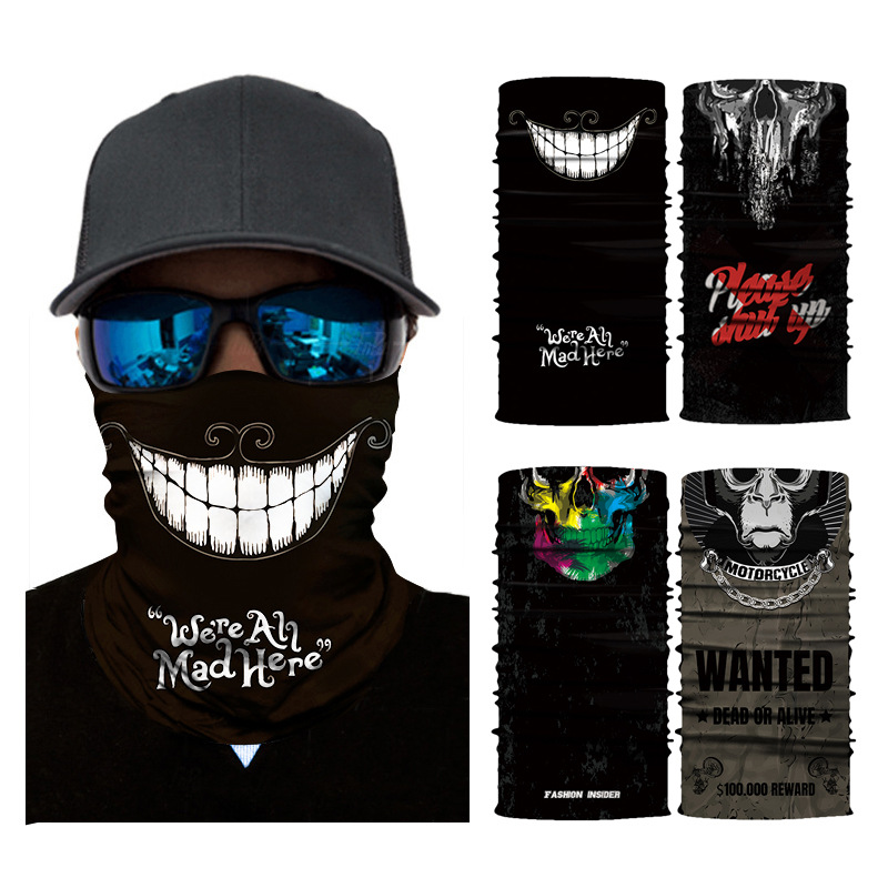 Magic Cycling Headband Mask 3D Printing Ski Cycling Snowboard Scarf Neck Cool Face Mask Balaclava Bandana Bike Mask 4 Colors cycling motorcycle head scarf neck warmer face mask ski balaclava headband face shield skull mask