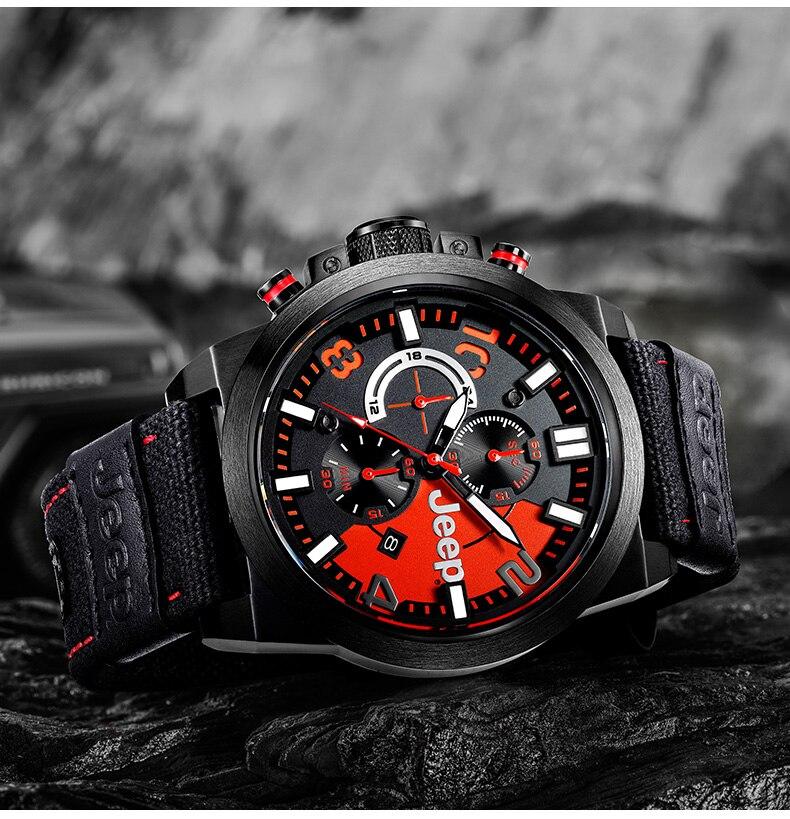 Джип оригинальные мужские часы военные уличные спортивные кварцевые часы Cavas лучший бренд водостойкие роскошные часы JPW60903
