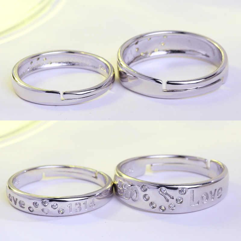 Anillo corazón amor 2017 compromiso boda titanio acero joyería 1 par JZ46 anel masculino claddath anillos mujer biker Ring