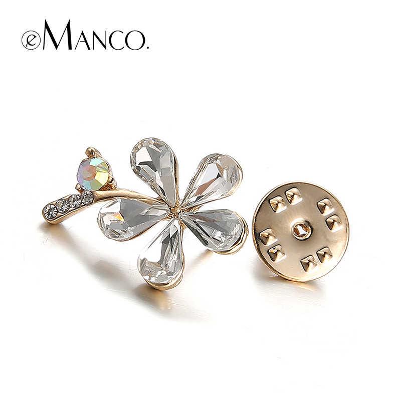 Большой горный хрусталь цветок брошь свадебные eManco 2016 новые акции высокое качество мода бижутерии творческий рождественский подарок BR02762