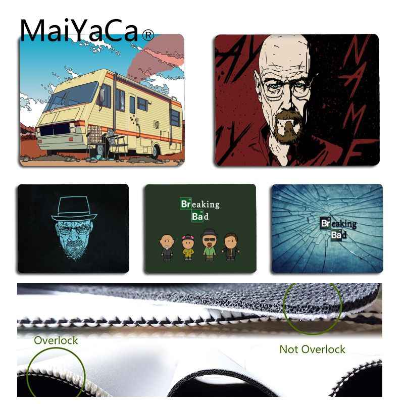 MaiYaCa Your Own Mats Breaking Bad Laptop Computer Mousepad Size for 18x22cm 25x29cm Rubber Mousemats