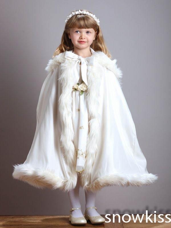 Girls White Winter Coat - Sm Coats