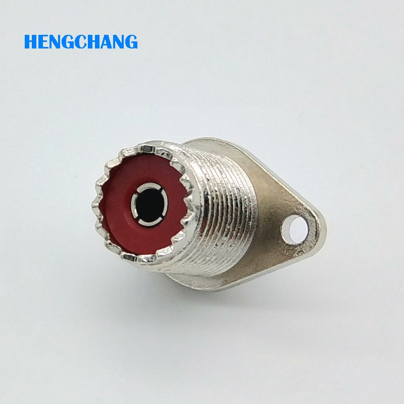 5pcs SL16 UHF Female Welding Panel RF Connector 2 Hole SO239 M Type Socket Female Connector With Rhombic Flange