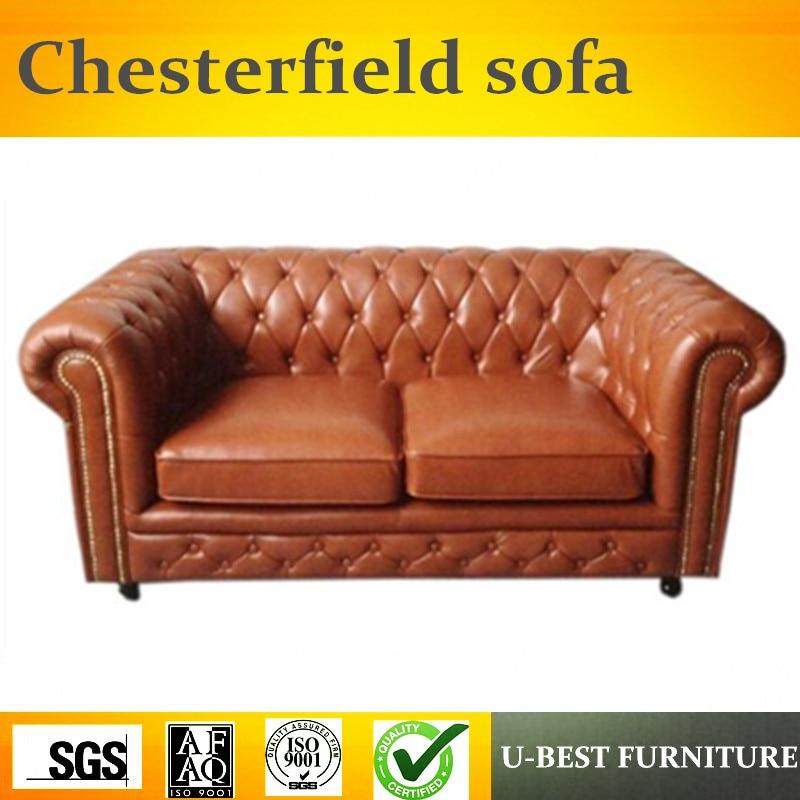 Galleria fotografica U-BEST I due persone divano Chesterfield Britannico tirare divano, Semplice soggiorno divano in stile Europeo divano Chesterfield reception