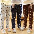 2014 cute little girls bear pants cotton trousers 7-15 code 5pcs/lot free shipping