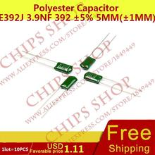 1 лот = 10 шт. полиэстер конденсатор 2E392J 3.9nF 392 5% 5 мм (1 мм) 250 В DIP-2 DL-2E392J 3900