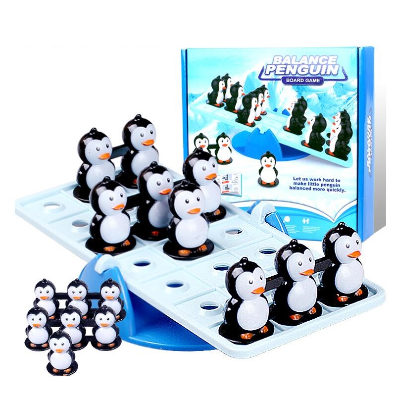 Penguin balance toy parent-child puzzle interactive game penguin seesaw toy Family Party Game