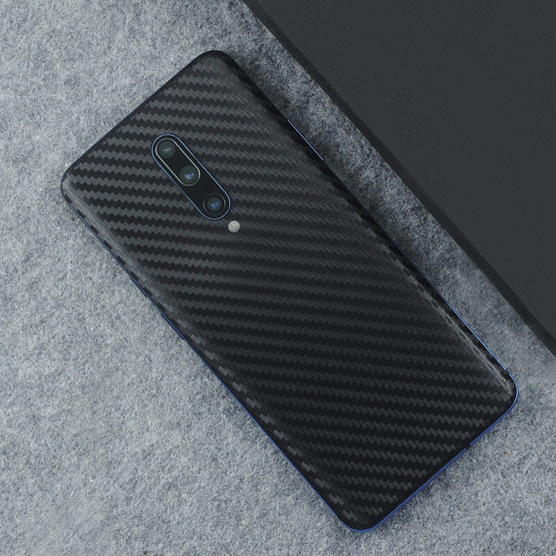 <font><b>3D</b></font> Carbon Fiber Skins Film Wrap Skin Phone Back Paste Sticker For <font><b>OnePlus</b></font> 7 Pro One Plus 7 1+6T 1+<font><b>6</b></font> Pure Color Matte Film image