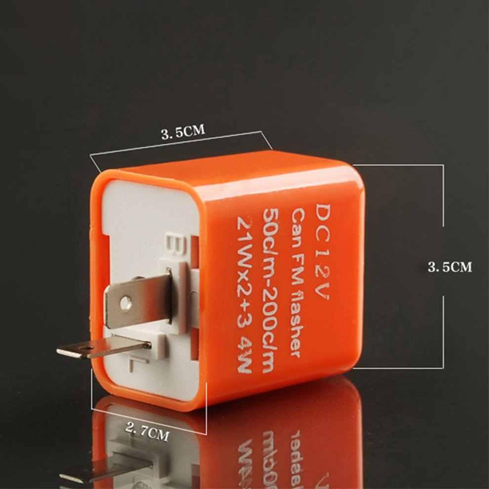 1 PC 12V 2 Pin Motor Blinker Adjustable LED Flasher Relay Indikator Hyper Berkedip