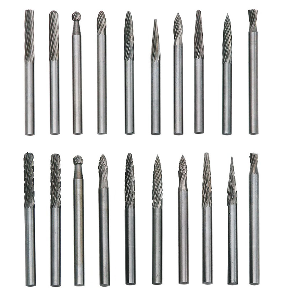 20pcs Dremel Carbide Burrs Drill Bit Set for Metal Woodworking Carving Tools RotaryDrill Bits Mini Glass Diamond mini glass diamond dremel carbide burrs drill bit set rotary burr micro drill bits for metal woodworking carving tool 10pcs set