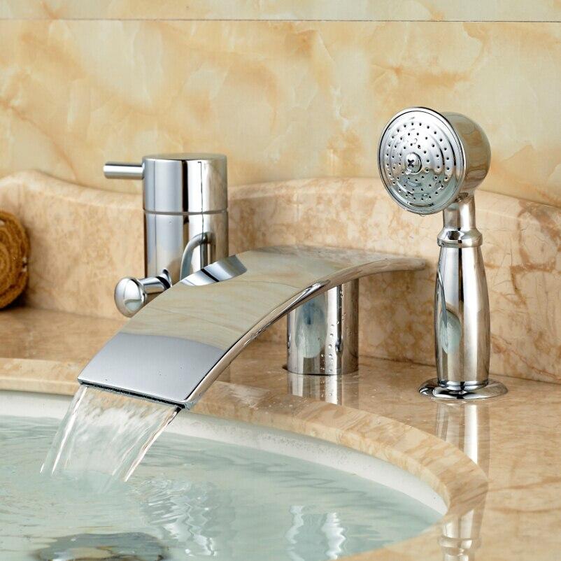 Single handle roman tub faucetPopular Single Handle Roman Tub Faucet Buy Cheap Single Handle  . Waterfall Roman Tub Faucet Brushed Nickel. Home Design Ideas