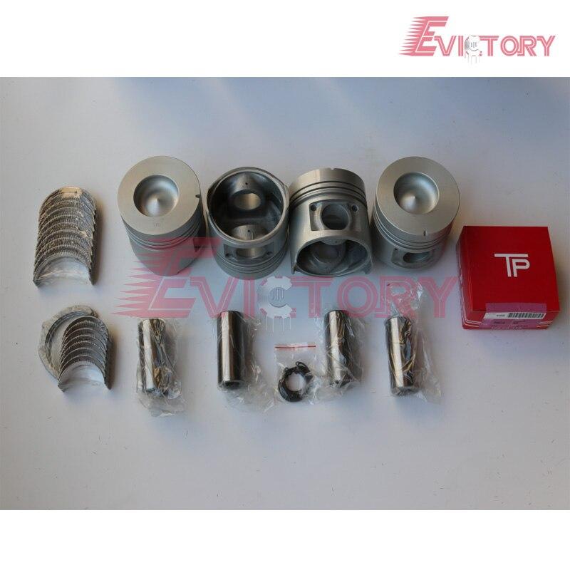 1Z поршень + поршневое кольцо коленчатого вала & con стержень подшипника полный комплект прокладок для Toyota вилочный погрузчик восстановить