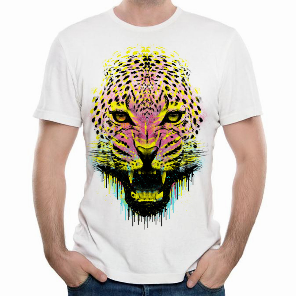 Tribal design t shirt - Xqxon The Tribal Tiger Lion Animal Printed 3d T Shirt Fresh Design Men Fashion O