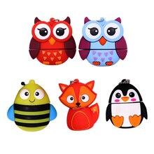 Pendrive cartoon animals USB flash drive 4GB 8GB 16GB 32GB 64GB cute Owl / Bee Fox  memory stick creative gift pen
