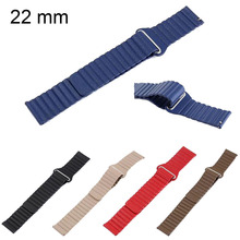 22mm Genuine Leather Loop Strap for Samsung Galaxy Watch 46mm Magnetic Closure Wrist Band for Samsung Gear S3 Frontier Classic