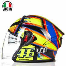 Италия Оригинальный Бренд AGV K5 VR 46 Мото Езда Половины шлем Мотокроссу Защиты Открытым Лицом Moto Каско для Мужчин женщины