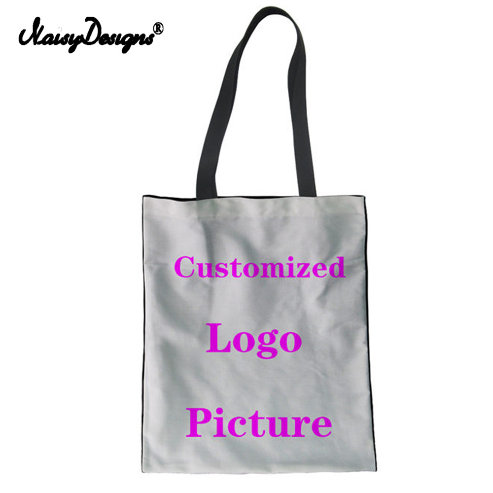 NoisyDesigns New Custom Reusable Shopping Bag Grocery Eco Foldable Women  Mesenger bags Canvas Tote Bags Drop Shipping Wholesale 55f6b74185