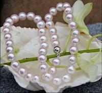 9 10 мм белый Akoya Цепочки и ожерелья 18 АААА