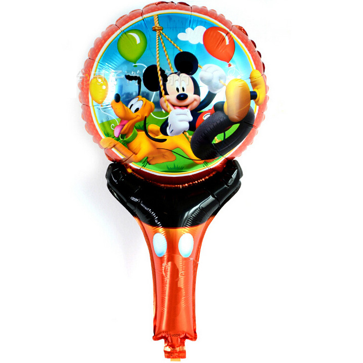Cute Mickey cartoon hand held Foil balloon Balloons, Minie and mickey printed handheld balloon toys for Kid Gift balloon