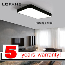 LOFAHS מודרני LED תקרת אור פשוט מלבן תקרת גופי מחקר משרד אוכל חדר שינה סלון led מנורה