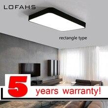 LOFAHS plafonnier LED rectangulaire simpliste, luminaire de plafond, idéal pour le bureau, la salle à manger, la chambre à coucher, le salon, plafond moderne à LEDs