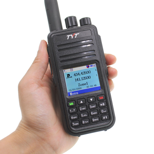 TYT MD-UV380 Walkie Talkie Dual Band Radio MD-380 MD380 VHF UHF Digital DMR Two Way Radio Dual Time Dlot Transceiver 1