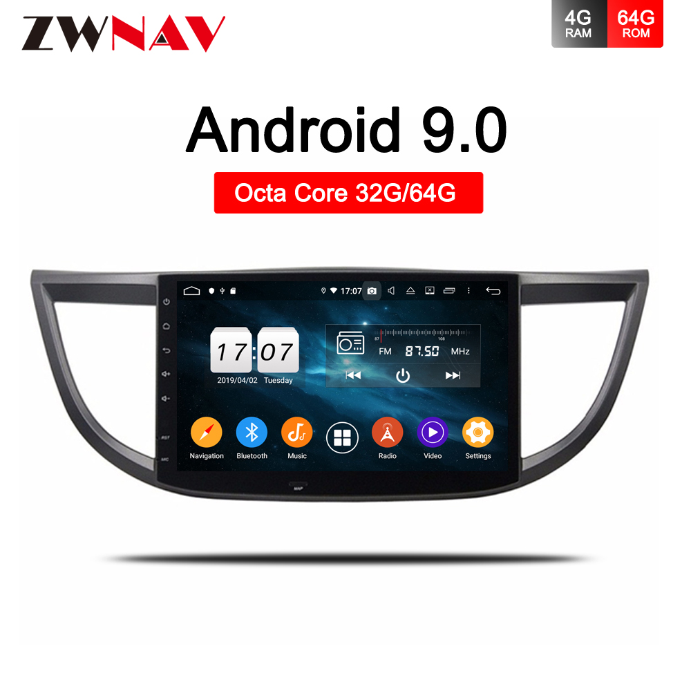 Android 9.0 Car Radio Multimedia Audio Player Navigation <font><b>GPS</b></font> For <font><b>Honda</b></font> <font><b>CRV</b></font> 2012 <font><b>2013</b></font> 2014 2015 2016 2 Din Radio no DVD head unit image