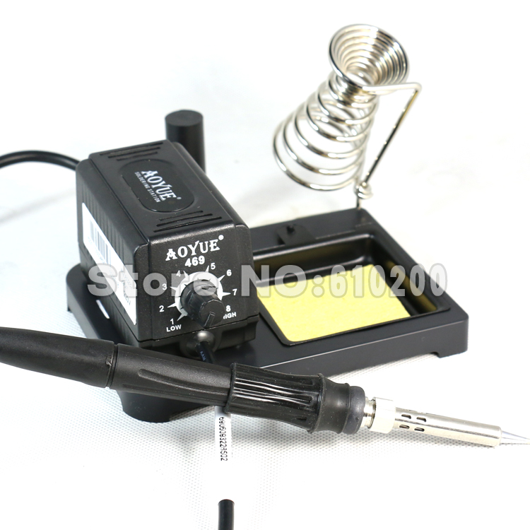 Aoyue 469 ESD Adjustable portable MINI Soldering Station/Electric soldering iron 220V aoyue bga soldering station original solder iron handle soldering station handle 220v 6 pin for aoyue 2702a