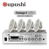 Oupushi Bluetooth домой фоновая музыка Системы MP3 плеер 50 Вт USB усилитель с 6 дюймов/8 дюймов Потолочные динамики