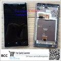 Display lcd original digitador touch tela com assembleia quadro para nokia lumia 925 n925 preto/prata teste ok