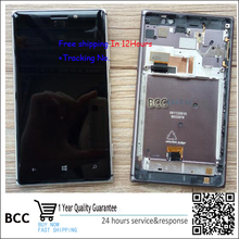Original LCD Display Touch Digitizer Screen with frame Assembly For Nokia Lumia 925 N925  Black/Silver Test ok