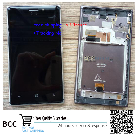 Original font b LCD b font Display Touch Digitizer Screen with frame Assembly For Nokia Lumia