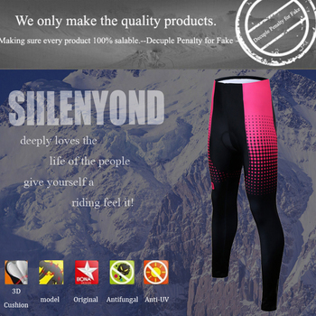 Siilenyond 2019 Pro Women Winter Thermal Cycling Pants MTB Bicycle Cycling Tights Mountain Bike Trousers With 3D Gel Padded 2